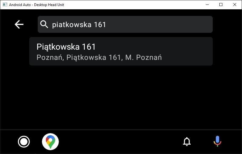 Yanosik w wersji na Android Auto