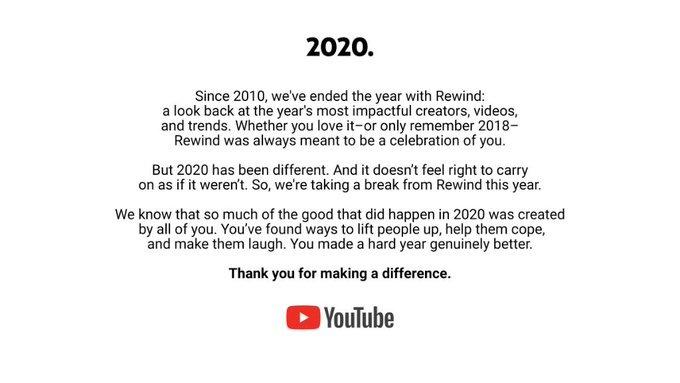 Google się nad nami zlitowało. W tym roku nie będzie YouTube Rewind
