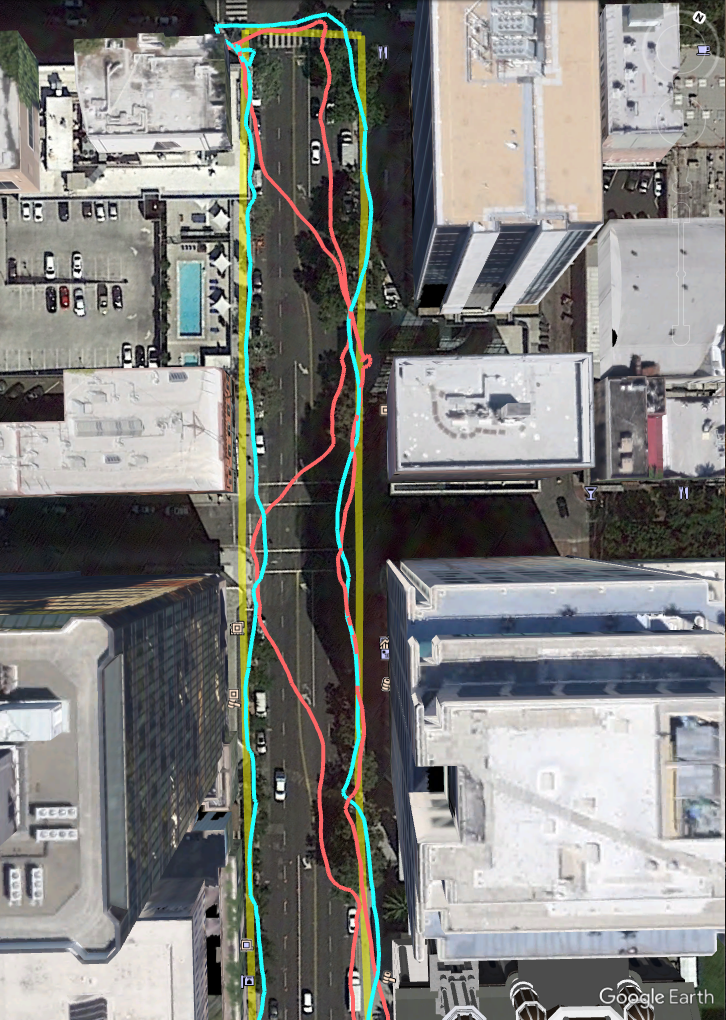 Poprawiona nawigacja piesza (źródło: Google)