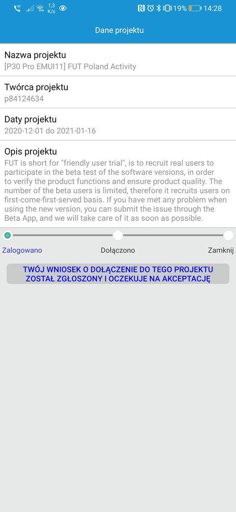 Huawei P30 Pro EMUI 11 beta