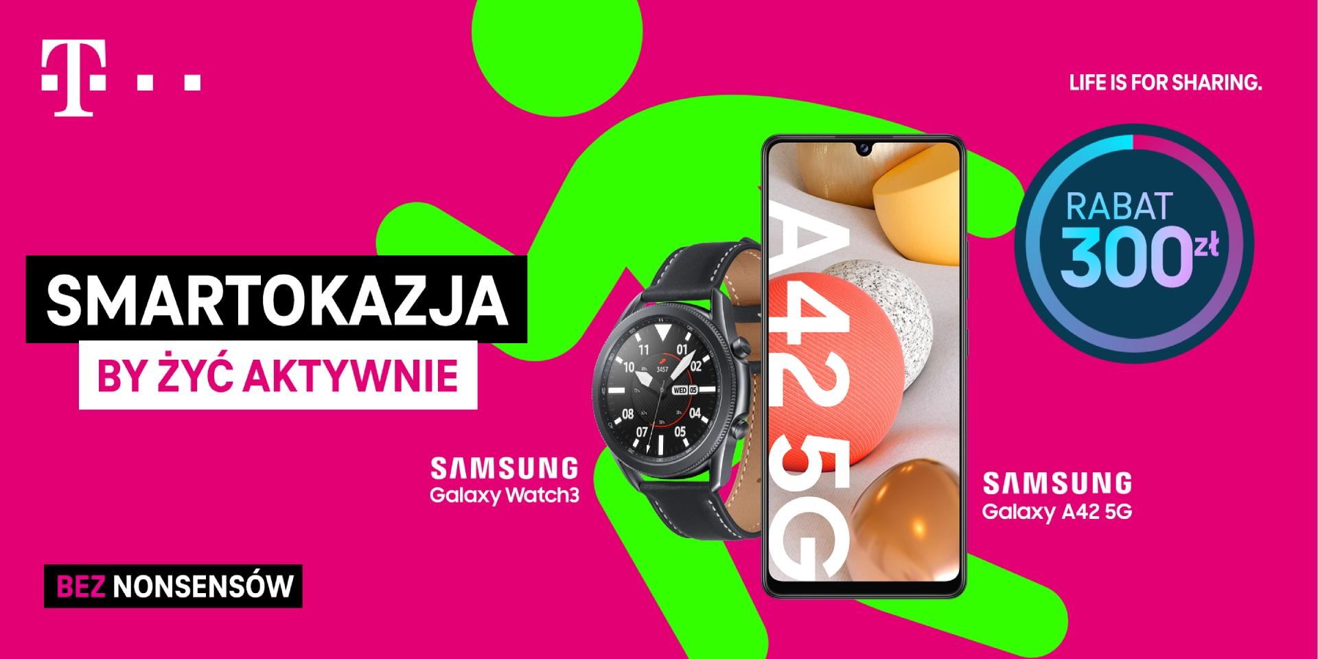 Smartokazje T-Mobile Samsung Galaxy A42 5G Galaxy Watch 3 LTE