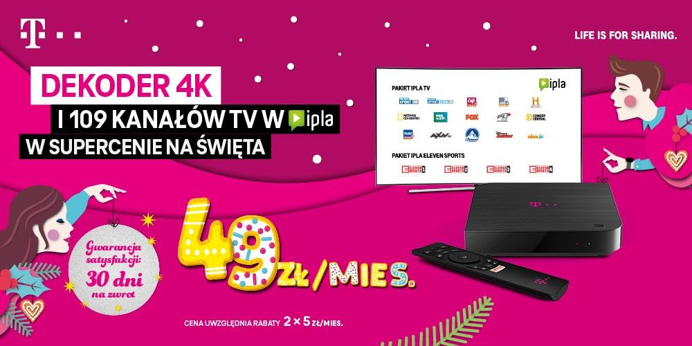 T-Mobile promocja IPLA TV Boże Narodzenie 2020