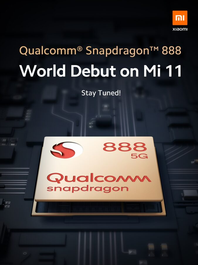 Xiaomi Mi 11 series Qualcomm Snapdragon 888 teaser