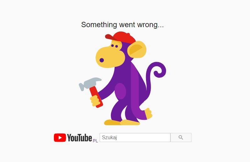 YouTube awaria nie działa grudzień 2020