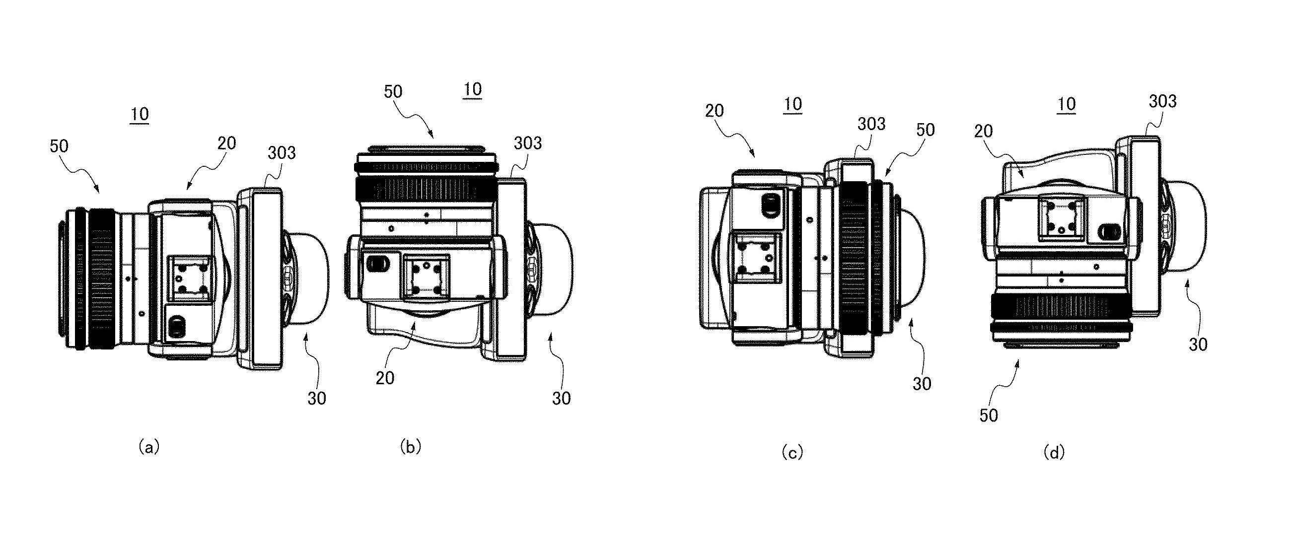 Ilustracja patentowa Canona przedstawiająca aparat z gimbalem (źródło: Canon News)