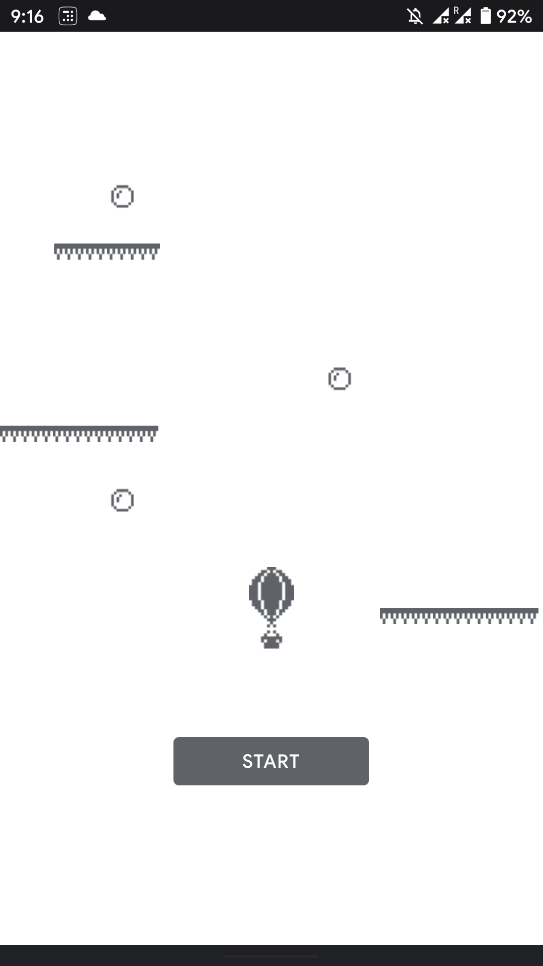 Gra offline Hot Air Balloon w Google Play Store (źródło: Android Police)
