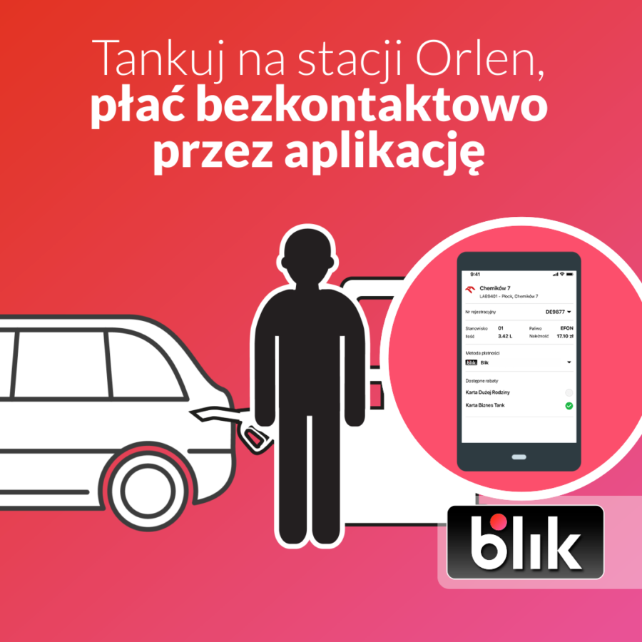 Orlen Vitay z obsługą BLIKA.