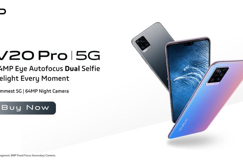 Vivo V20 Pro to smukły smartfon, ale notch jest w nim prawie tak duży jak w iPhone'ach