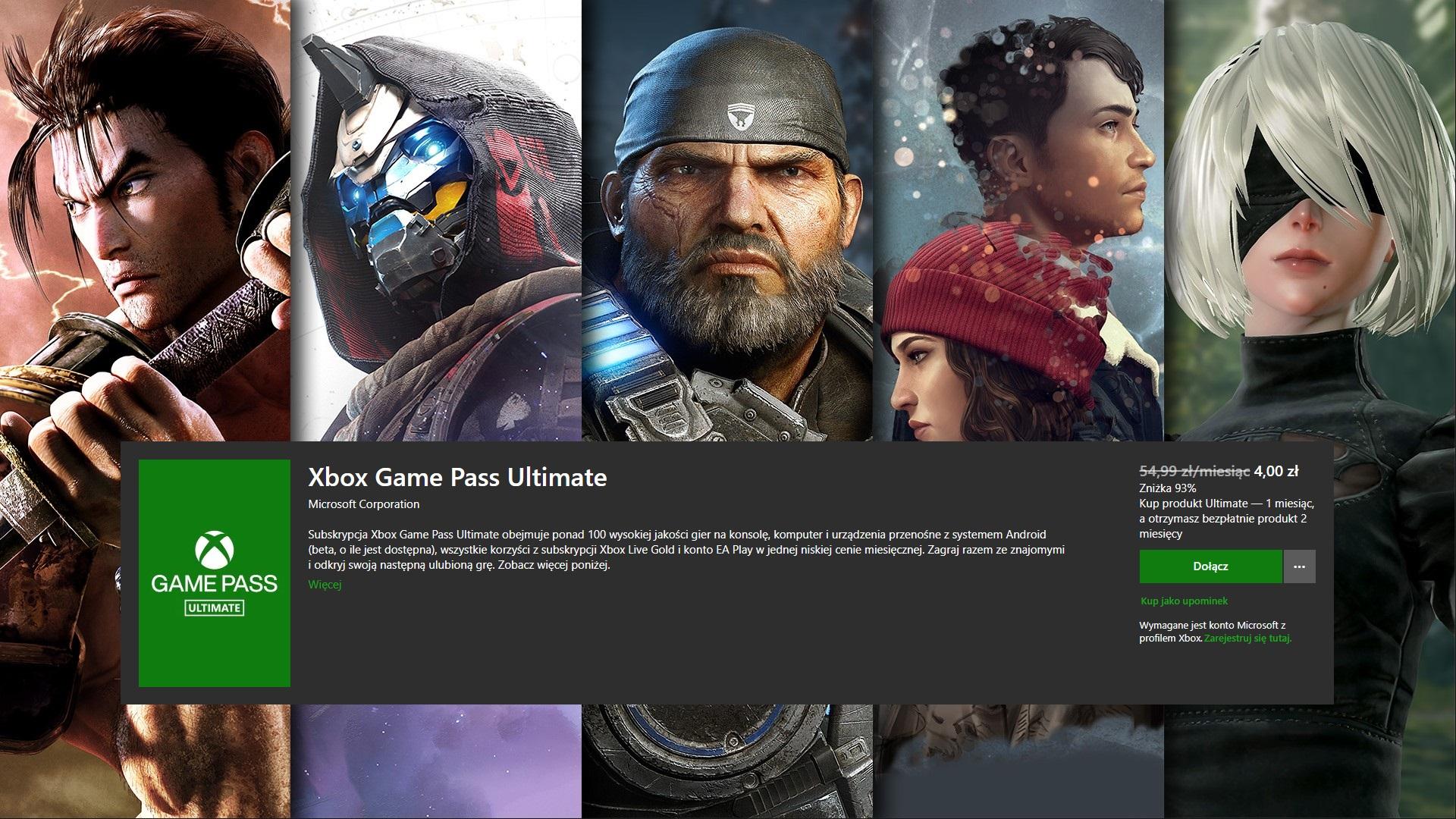 Xbox Game Pass Ultimate w promocji (źródło: Microsoft)