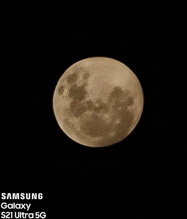 zdjęcie księżyca Samsung Galaxy S21 Ultra