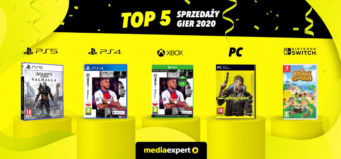 TOP 5 najlepiej sprzedających się gier w 2020 roku w Media Expert