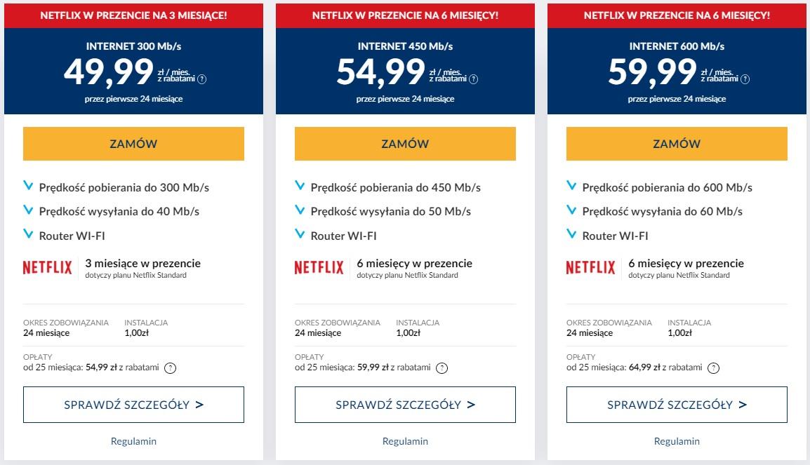 Vectra Netflix promocja