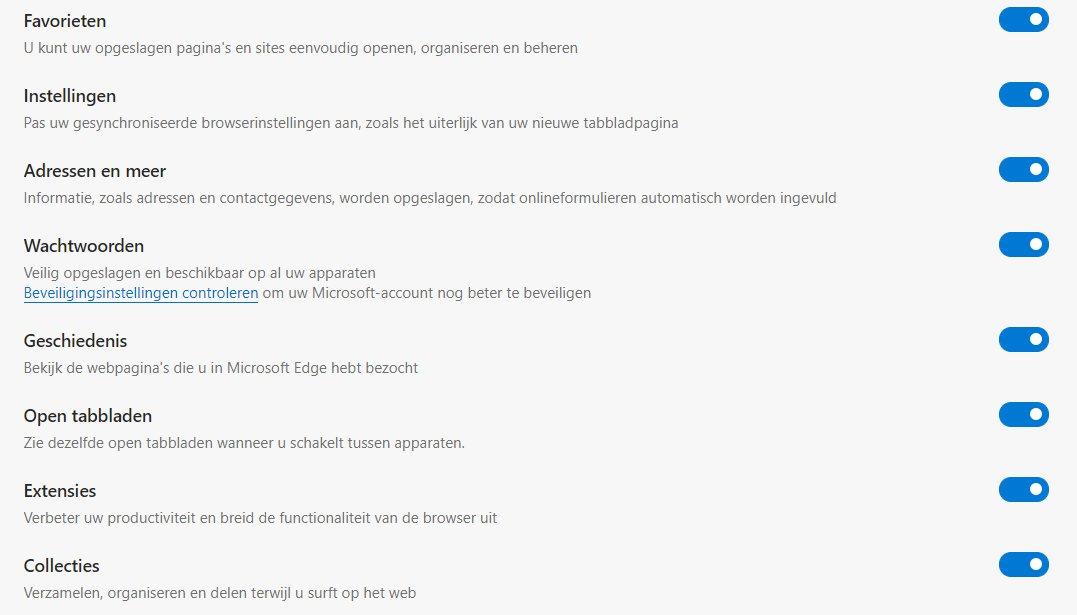 Microsoft Edge – synchronizacja.