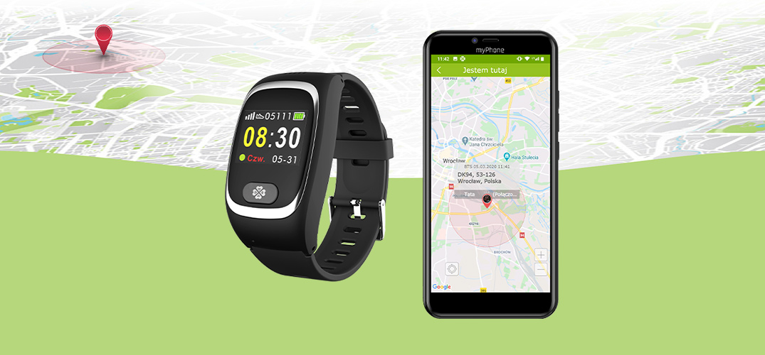opaska myBand 4family smart band GPS