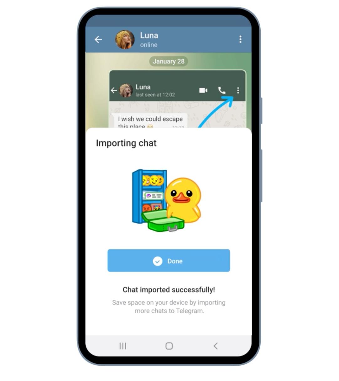 Telegram – przenoszenie rozmów.
