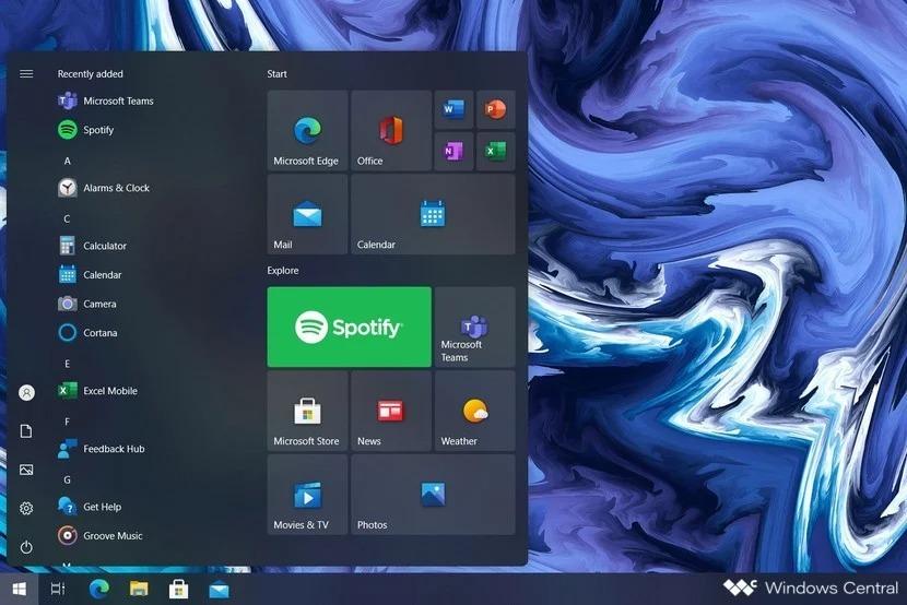 Microsoft Windows 10X system
