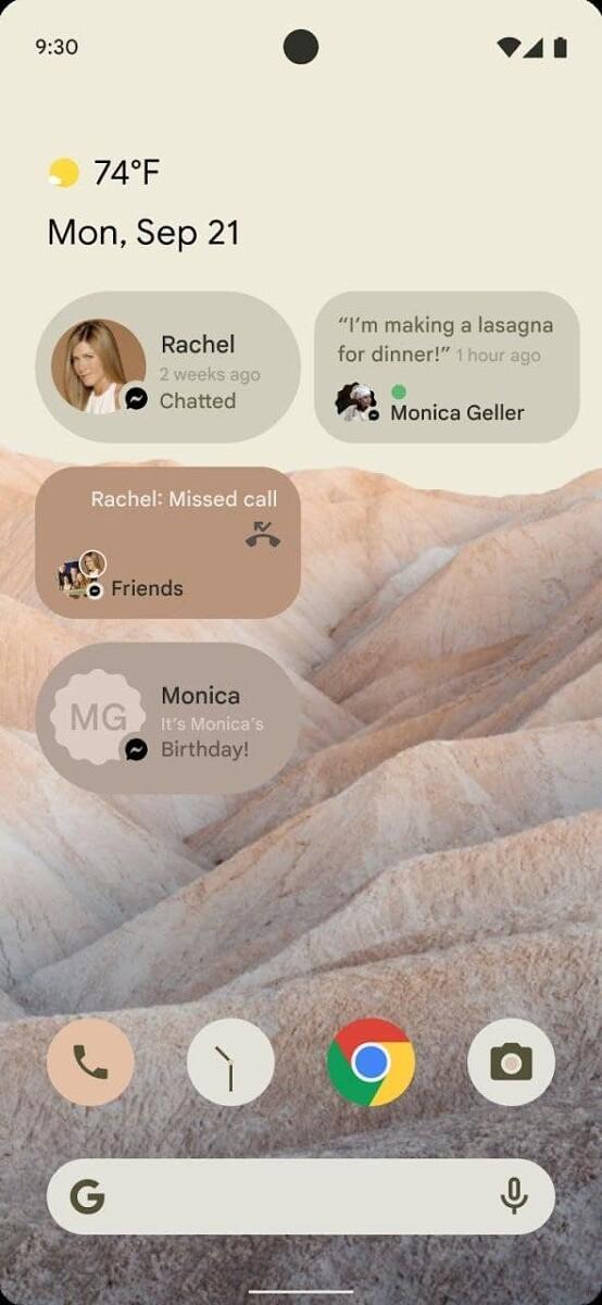 Android 12 z nowymi widżetamiy