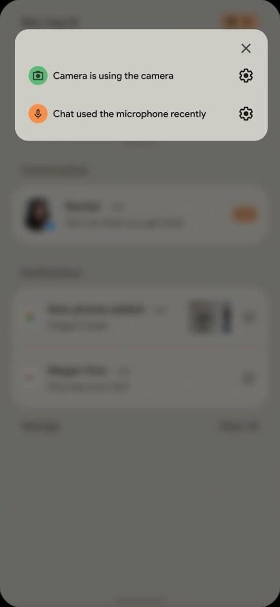 Android 12 - dostęp do kamery i mikrofonu