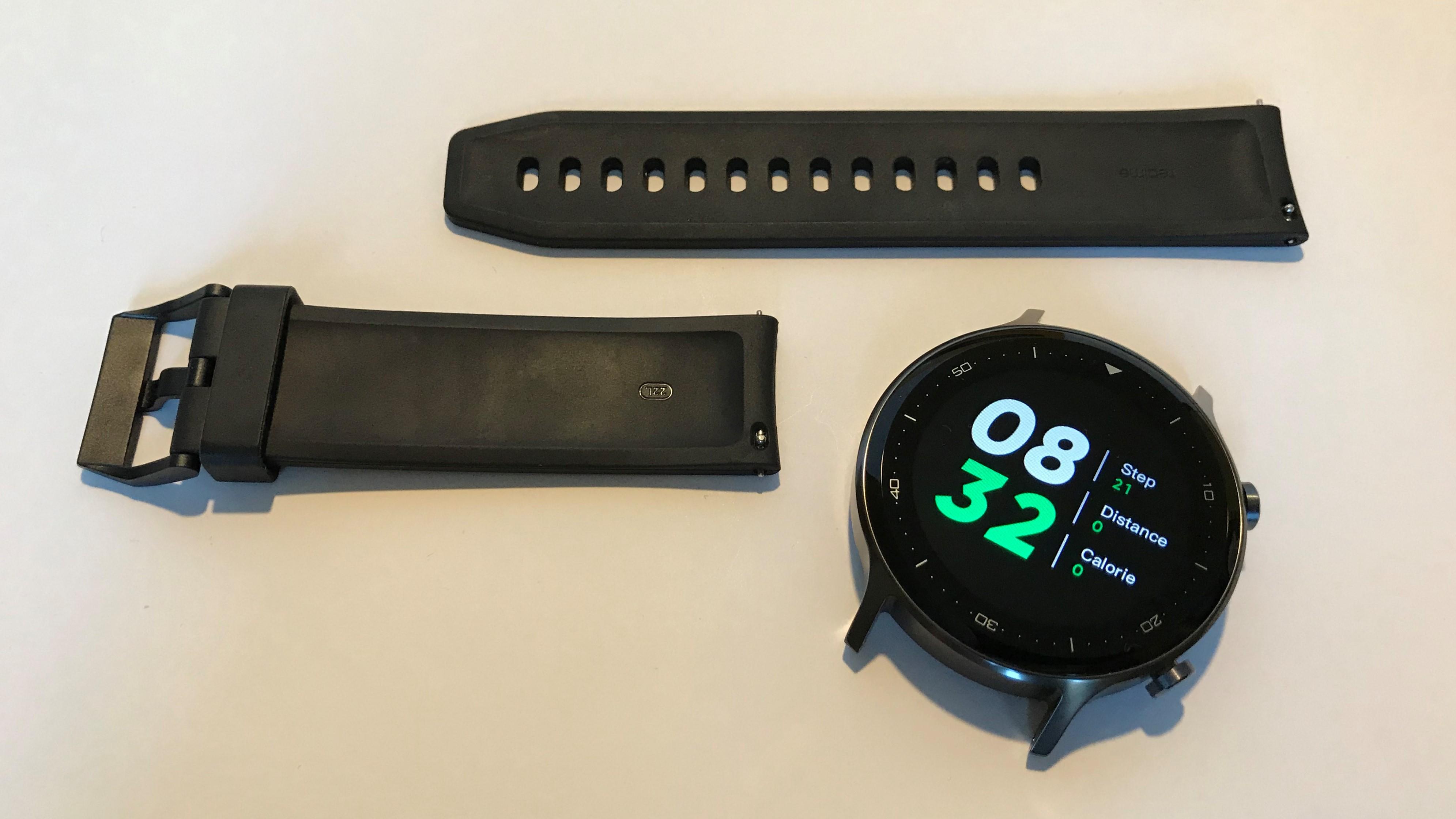 Cały zestaw Realme Watch S wygląda schludnie
