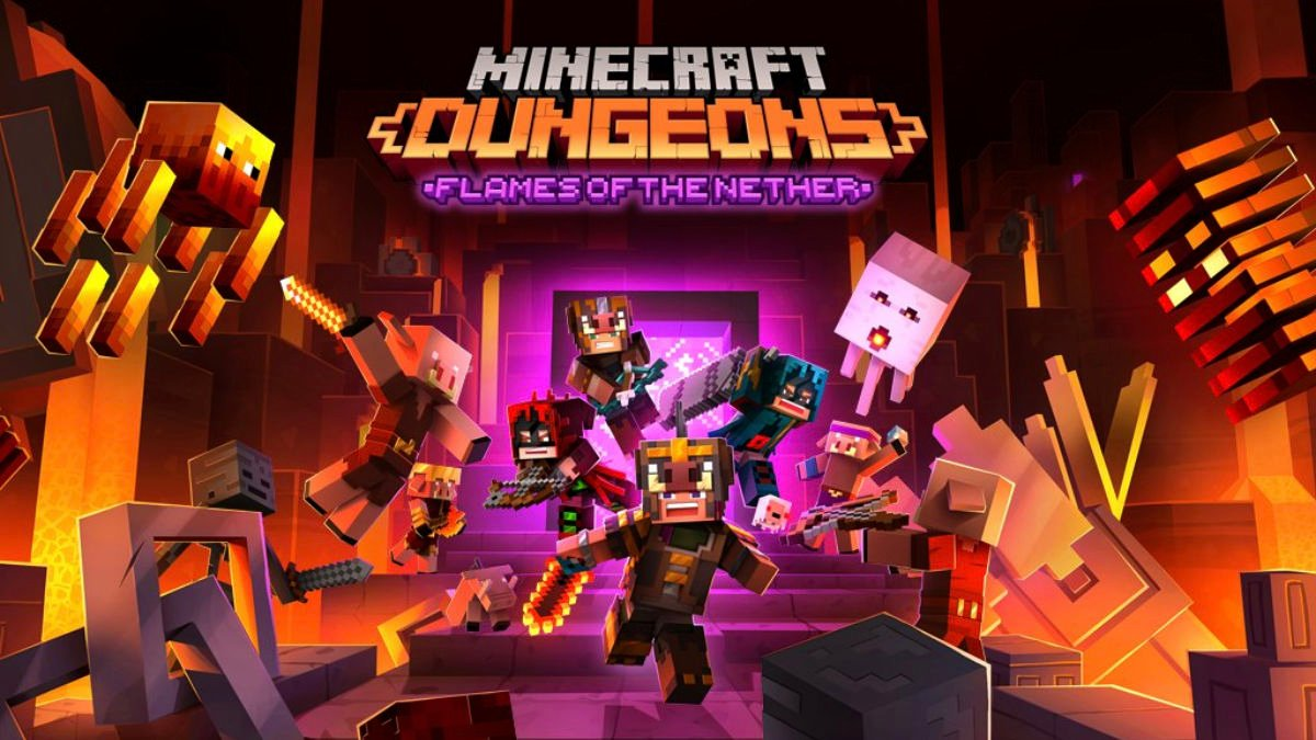 Minecraft Dungeons Xbox Series X 4K 120 FPS Flames of the Nether