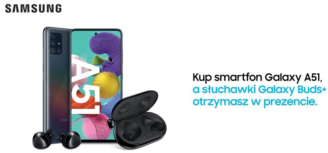 Samsung Galaxy A51 Galaxy Buds plus promocja