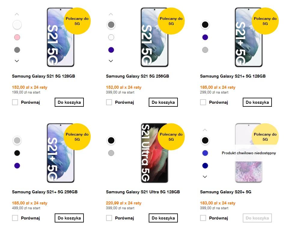Samsung Galaxy S21 w Orange