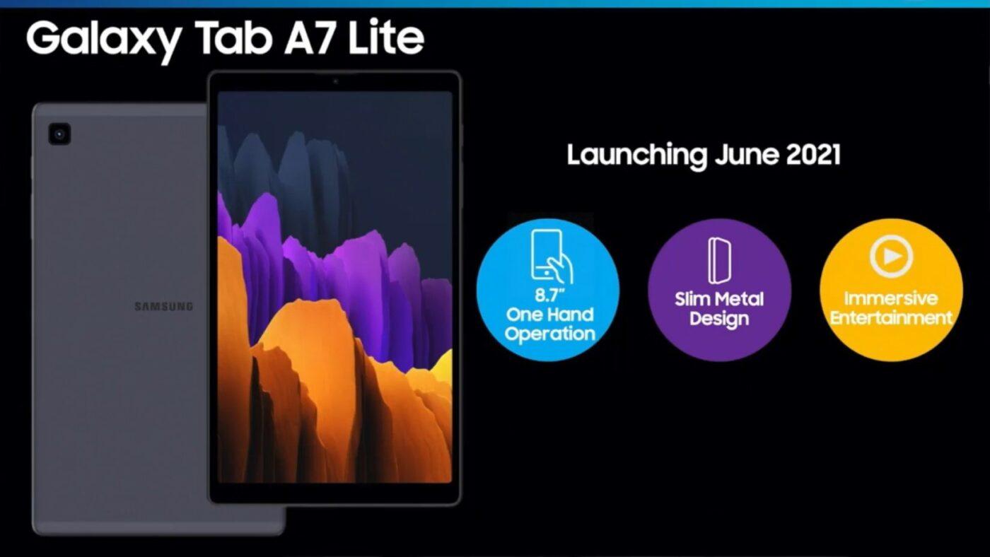 Samsung Galaxy Tab A7 Lite tablet