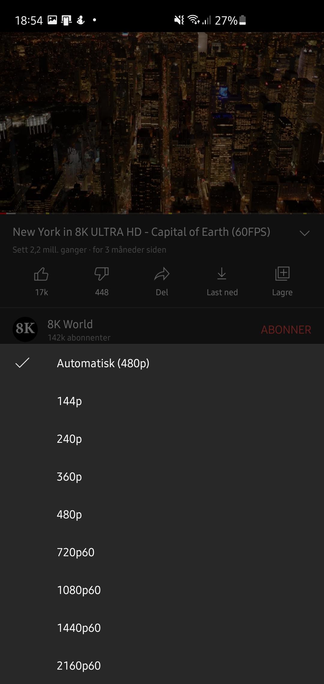 YouTube w 4K na Androidzie