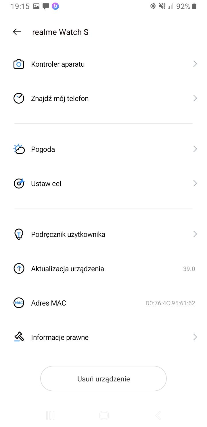 Test Realme Watch S - dodtakowe funkcje w Realme Link (1)