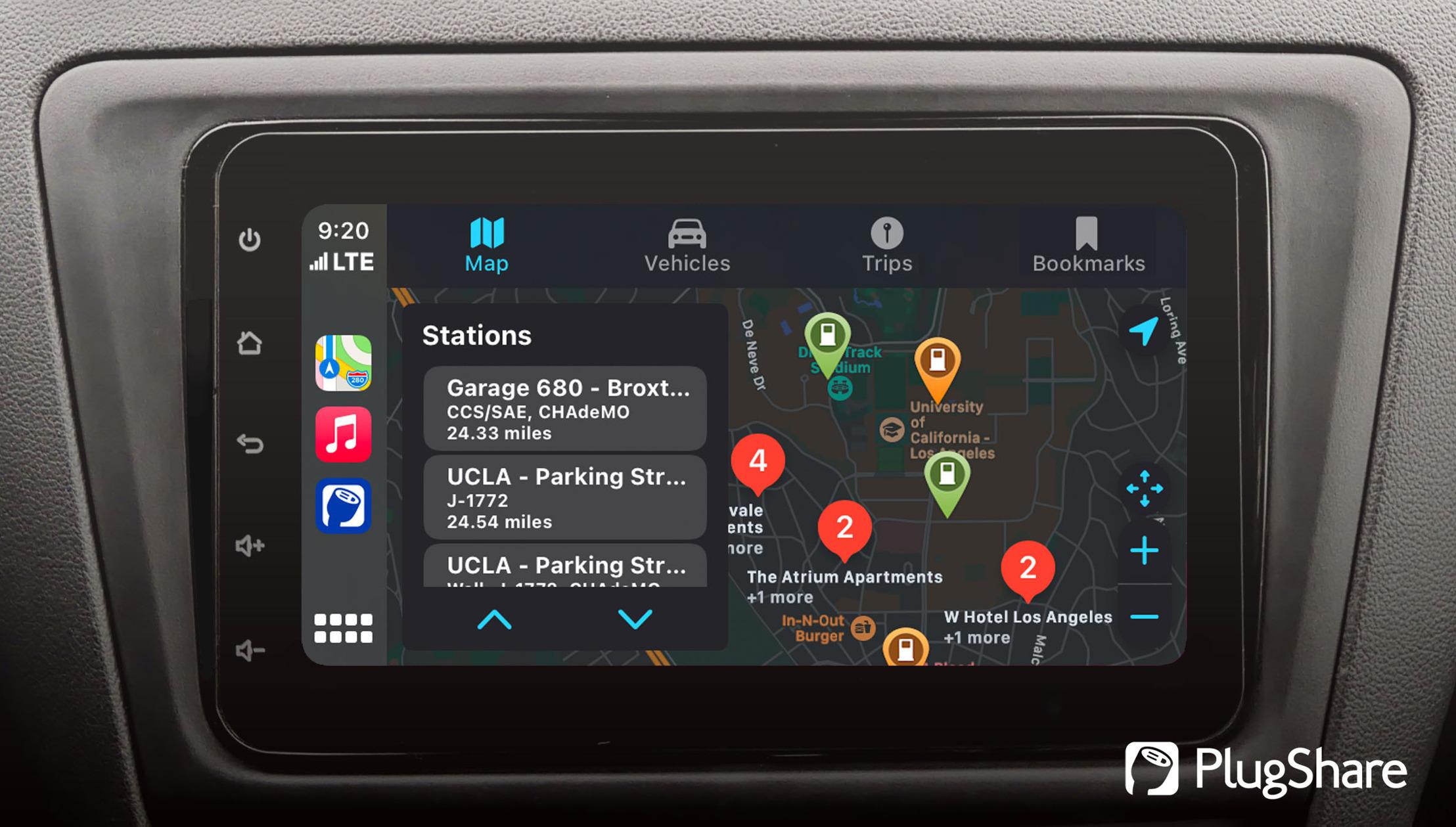 PlugShare w Apple CarPlay