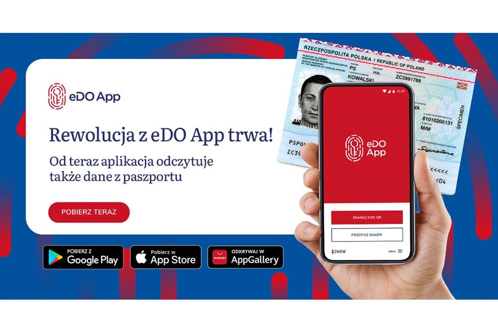 eDO App odczytanie warstwy elektronicznej z paszportu