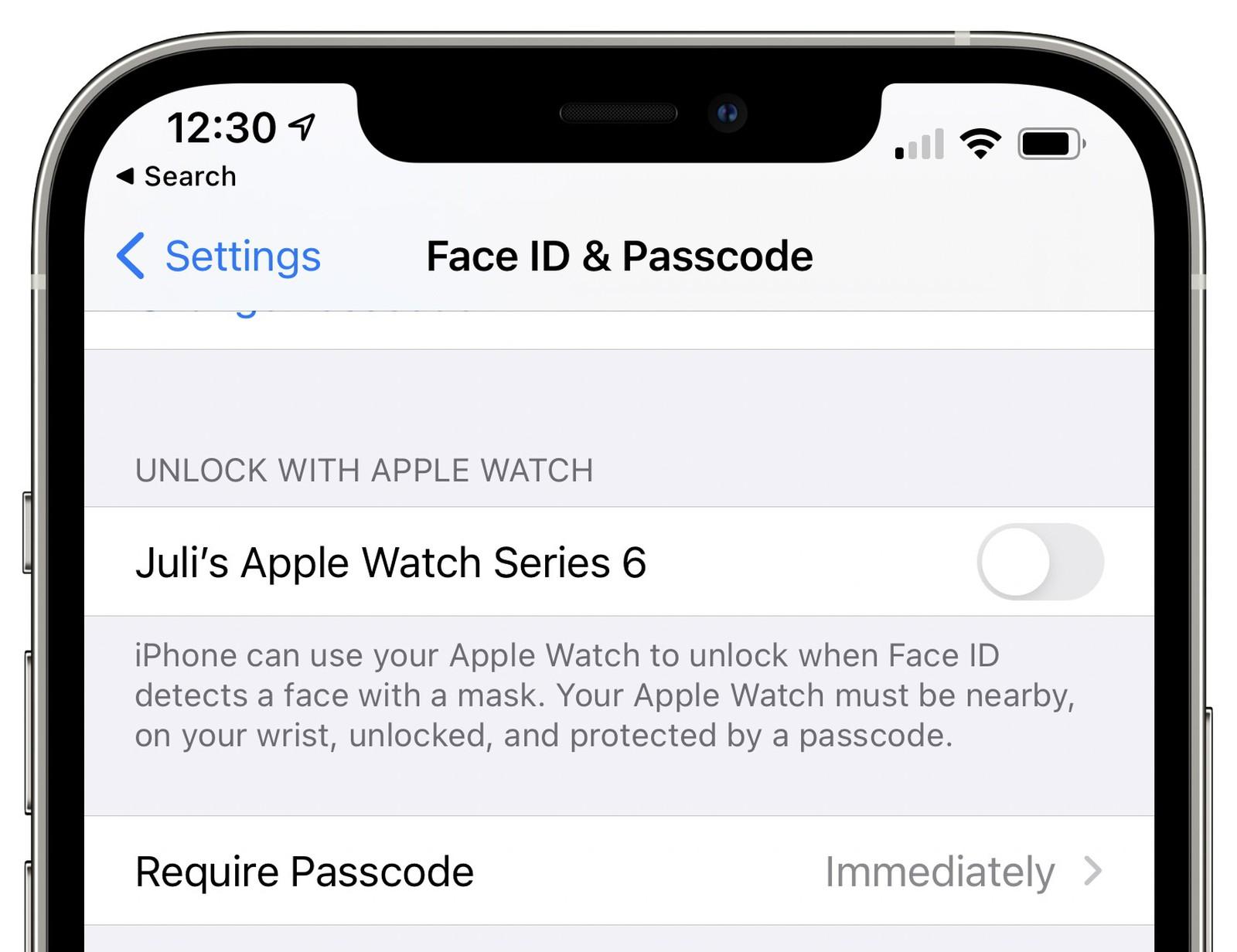 iOS 14.5 – funkcja odblokowania za pomocąApple Watcha