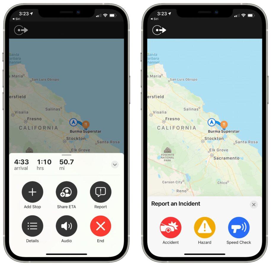 Mapy Apple – funkcja zgłaszania zdarzeń drogowych