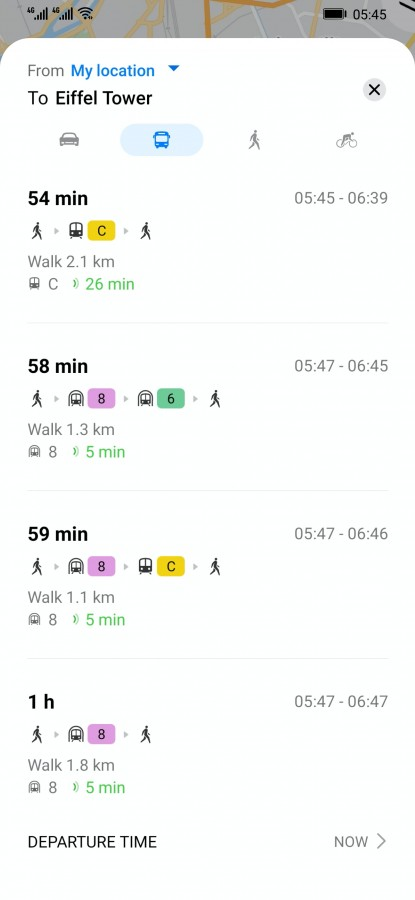 Transport publiczny już dostępny w Mapach Petal (źródło: GSMArena)