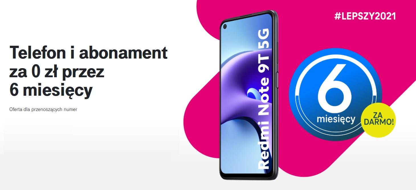 promocja T-Mobile abonament 6 miesięcy za 0 złotych