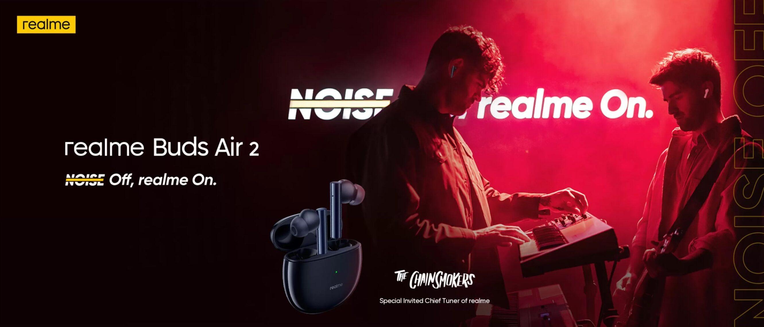 Słuchawki realme Buds Air 2 zyskały aktywną redukcję szumów i nareszcie nie kopiują Apple