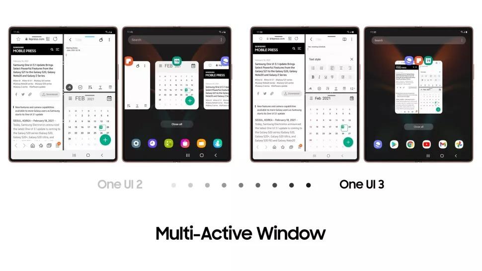 Samsung okno multi active
