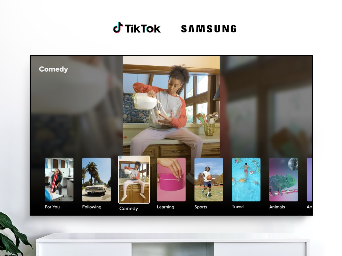TikTok na Samsung TV