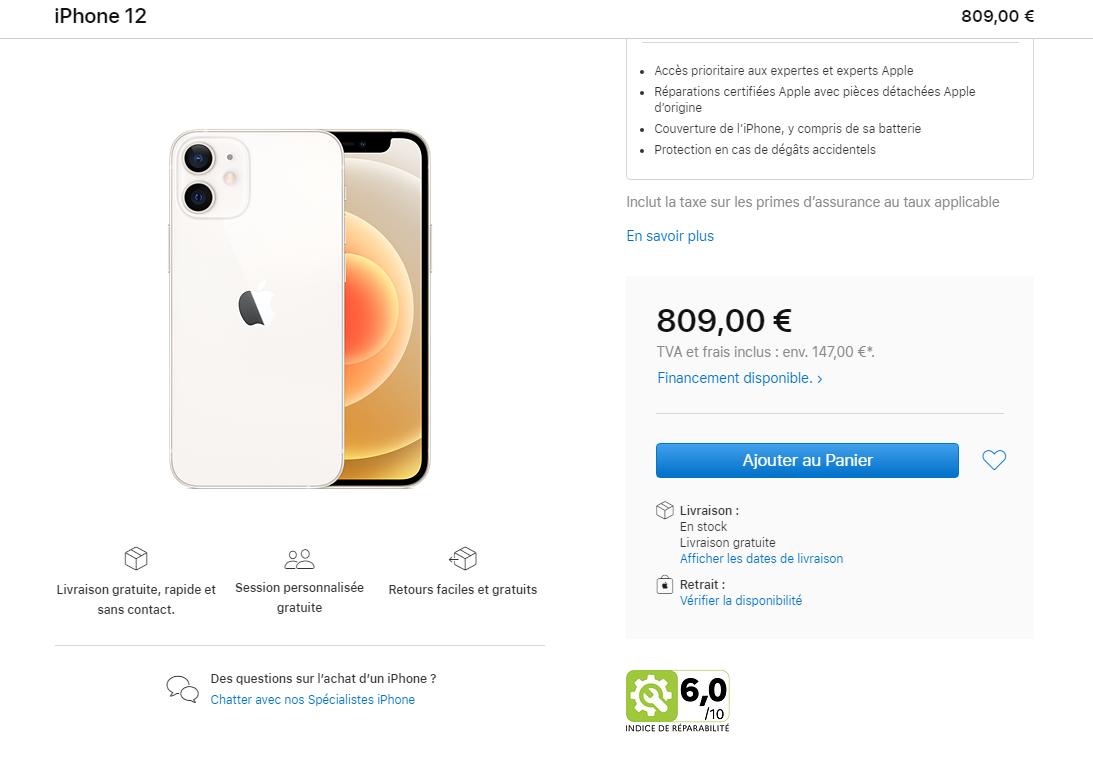 Apple Wskaźniki naprawialności iPhone
