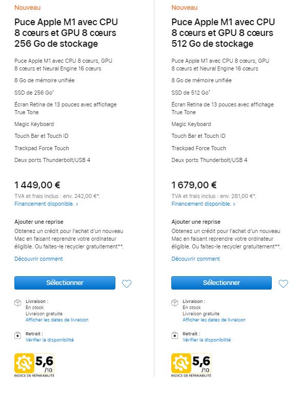 Wskaźniki naprawialności MacBooków