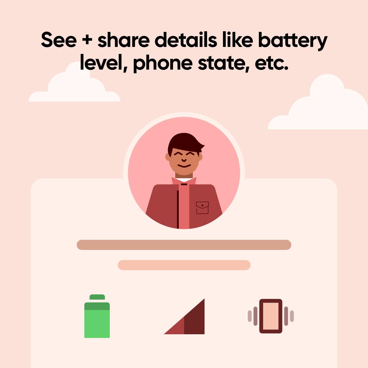 Aplikacja pozwoli również na podzielenie się informacjami o stanie naszego smartfona (źródło: Truecaller)