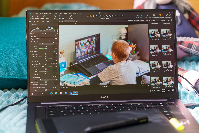 Huawei Matebook D 16 obróbka fotografii