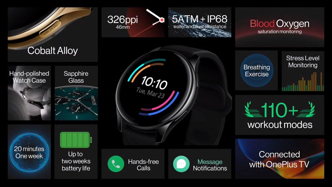 OnePlus Watch cobalt smartwatch