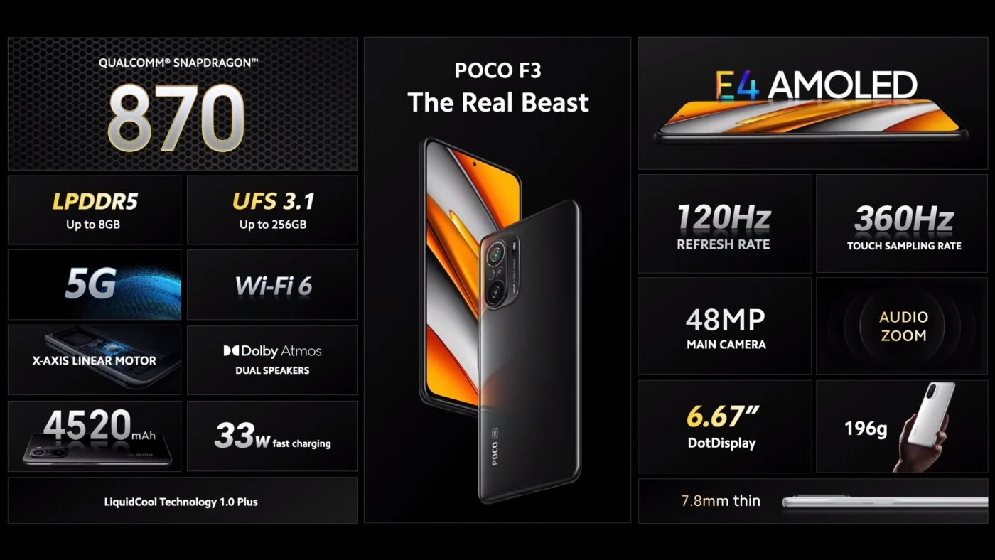 smartfon POCO F3 5G smartphone