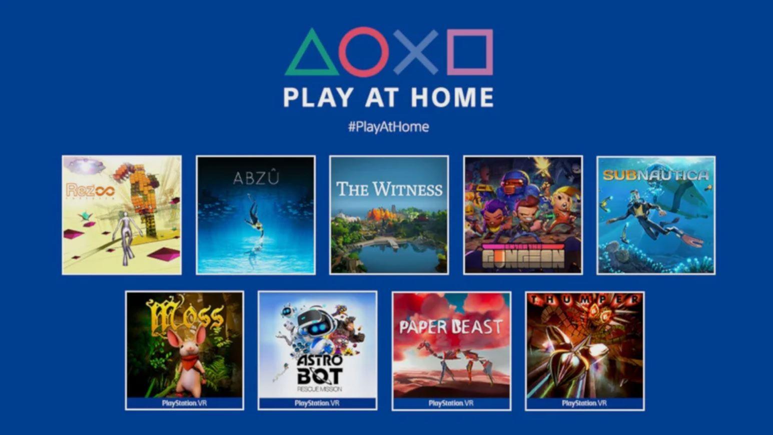 Play at Home PlayStation 4 PlayStation 5 Sony PS4 PS5 za darmo free
