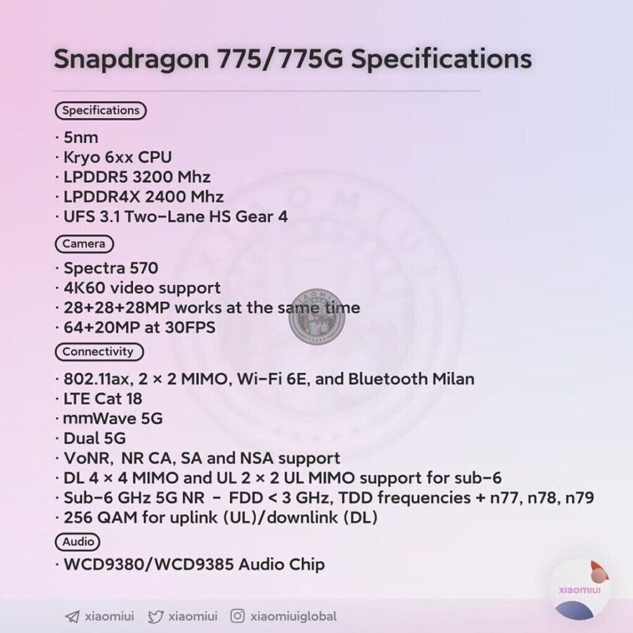 qualcomm snapdragon 775 wyciek