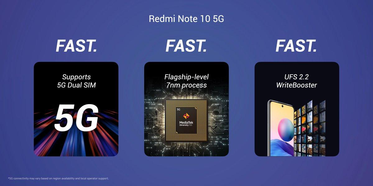 smartfon Redmi Note 10 5G smartphone