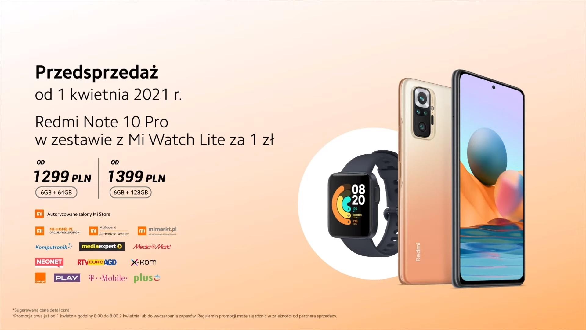 Redmi Note 10 Pro promocja