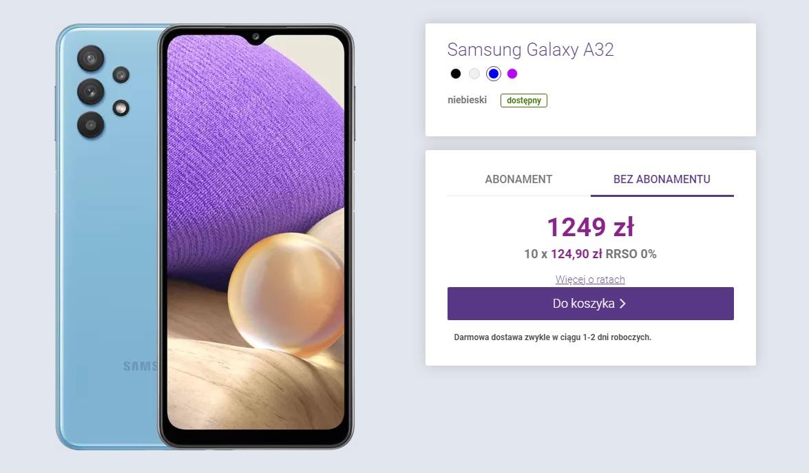 Samsung Galaxy A32 4G cena Polska Play