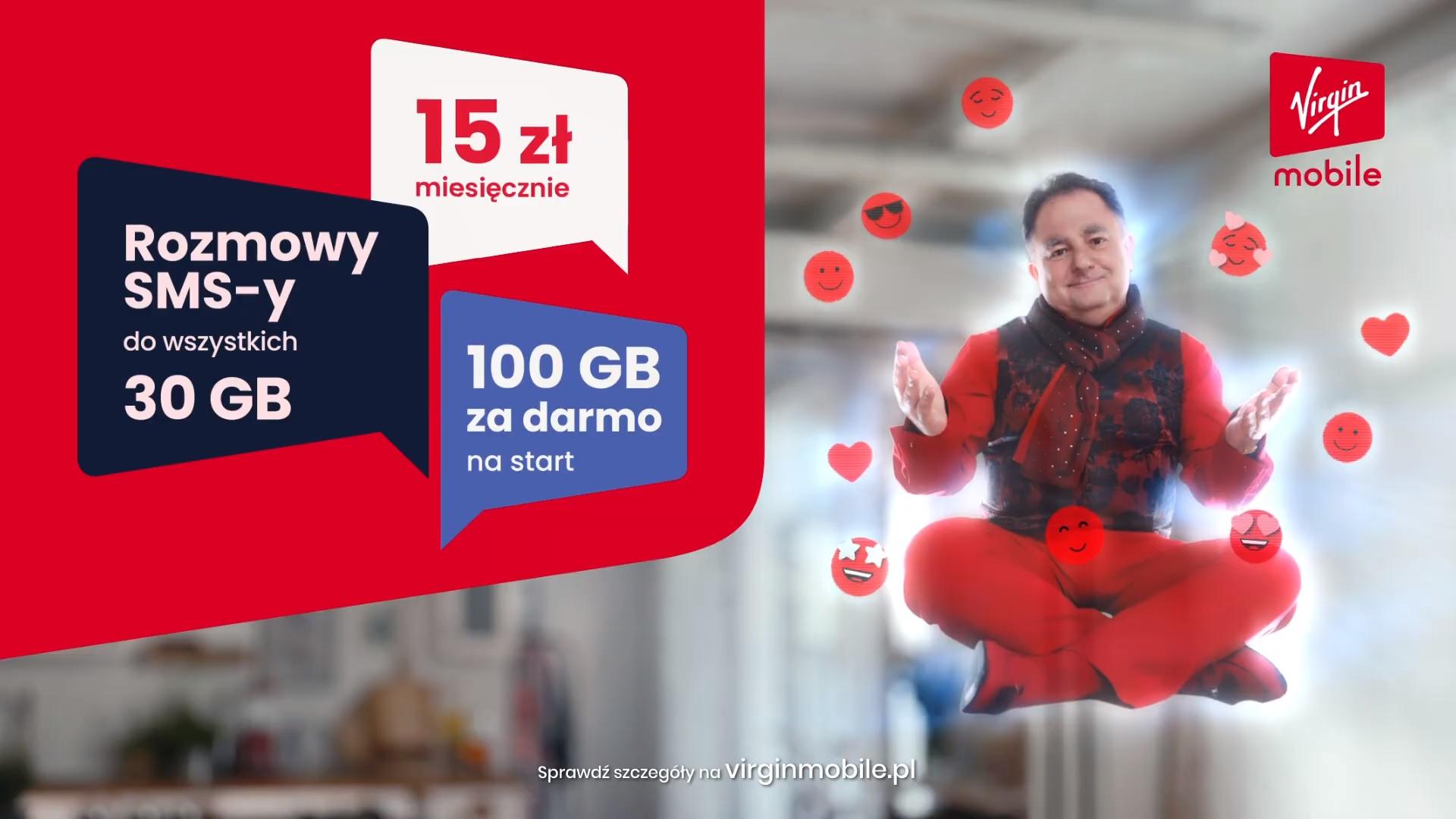 Virgin Mobile promocja GIGAMAKS za pół ceny na trzy miesiące Robert Makłowicz